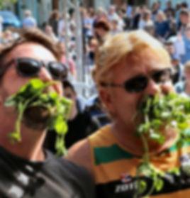 Eating Watercress