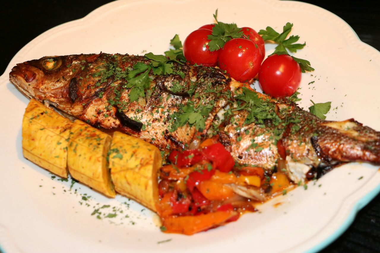 Roasted Plantain and Fish