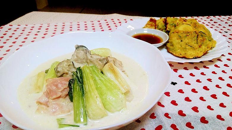 内山先生 牡蠣のクリーム煮 HAPPY Food Online.jpg