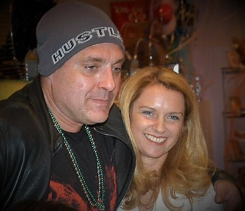Gail Thackray with Tom Sizemore