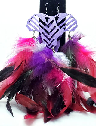 Purple & Pink Mama Africa Earrings