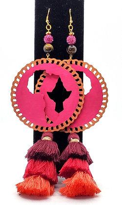 Magenta Goddess Earrings