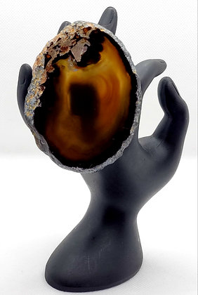 Black Circle Agate Ring