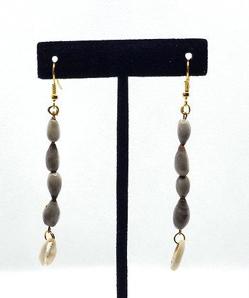 Cowrie Shell Teardrop Earrings