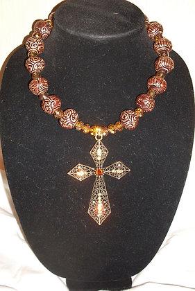 Bonze Cross Necklace
