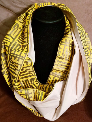 Yellow & Gold Ankara Infinity Scarf