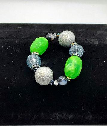 Neon Green Bubble Gum Bracelet