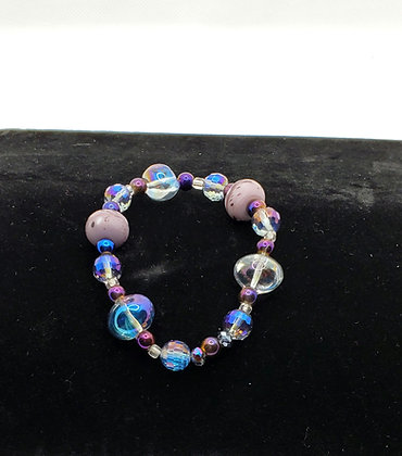 Psychedelic Hemamtite and Moonstone Bracelet