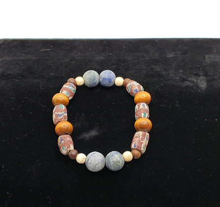 Natural Blue Bracelet with Agate