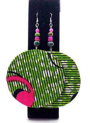 Green & Pink Wood Fab