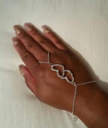 Double Heart Chain Bracelet