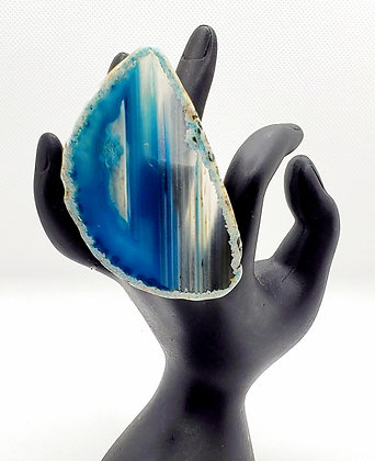 Blue Dyed Agate Ring