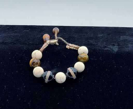 Agate Shambala Bracelet