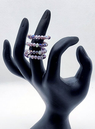 Shades of Purple Wire Wrap Ring