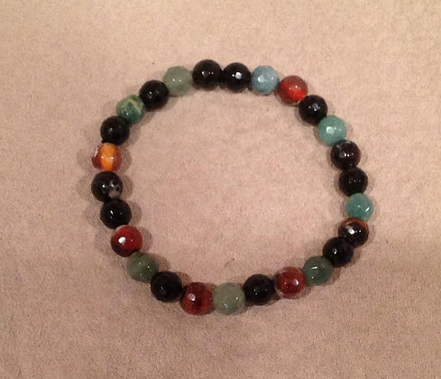 Multicolored Agate Bracelet