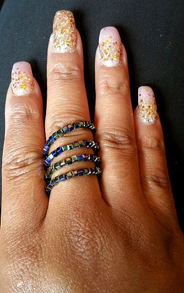 Oil Slick Wire Wrap Ring
