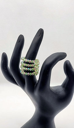 Pink and Green Wire Wrap Ring