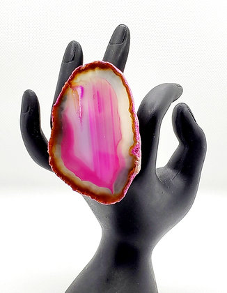 Magenta Dyed Agate Ring