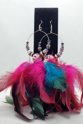 Hot Pink & Turquoise Hula Girls