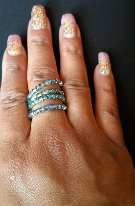 Sea Blue Wire Wrap Ring