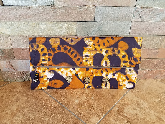 Beaded Brown Clutch