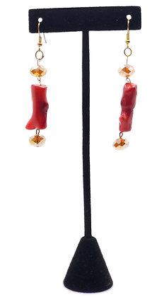 Coral Teardrop Earrings