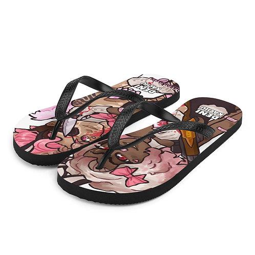 Pink Boba - Denikachu Flip-Flops