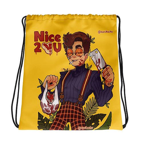 Nice 2 meat U - Denikachu Drawstring bag