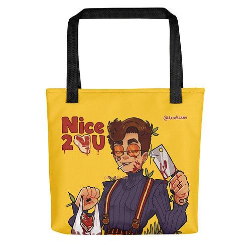 Nice 2 meat U - Denikachu Tote bag