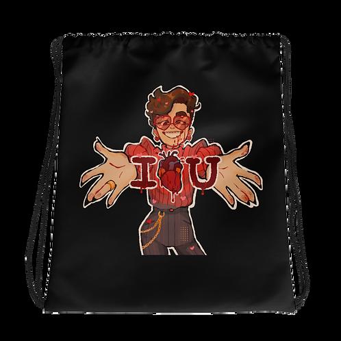 I heart U Drawstring bag