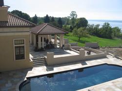 Seaside Villa Outdoor Poolside Kitchen