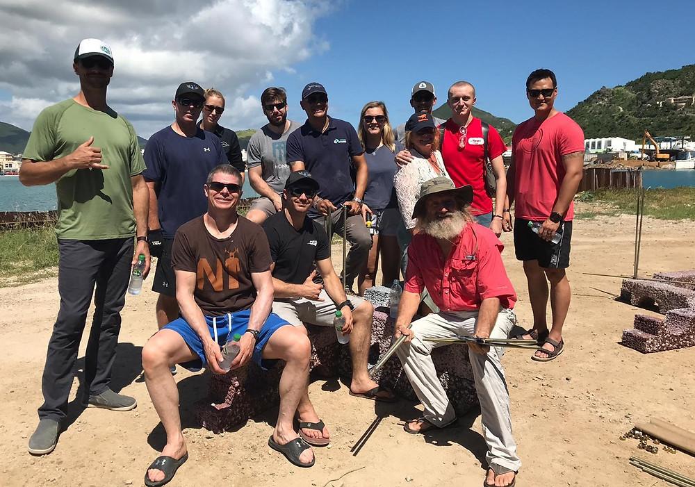Scuba Dive Reef Deployment Team & Dr. Dave Vaughan