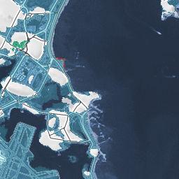 Boston Underwater Loss by Sea Level Rise