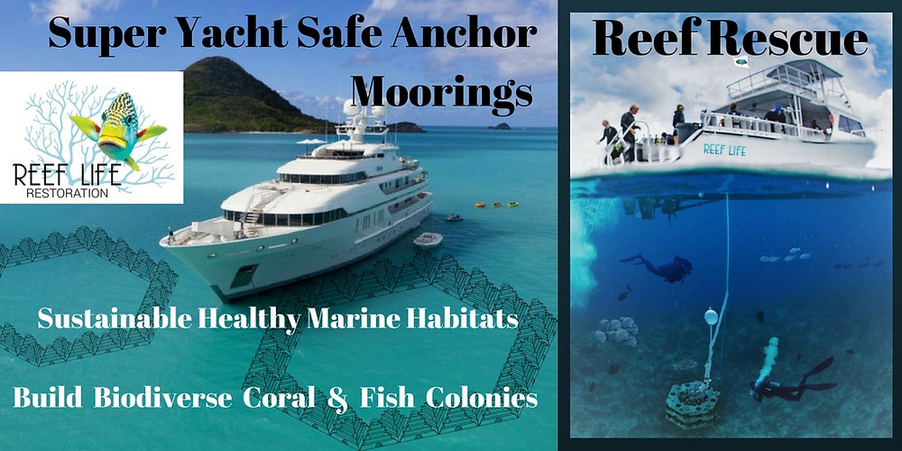 Mega Yacht Safe Anchor Reef Rescue Moorings