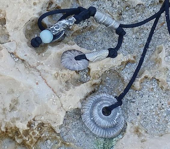 Cast Pure Silver Nautilus Bracelet