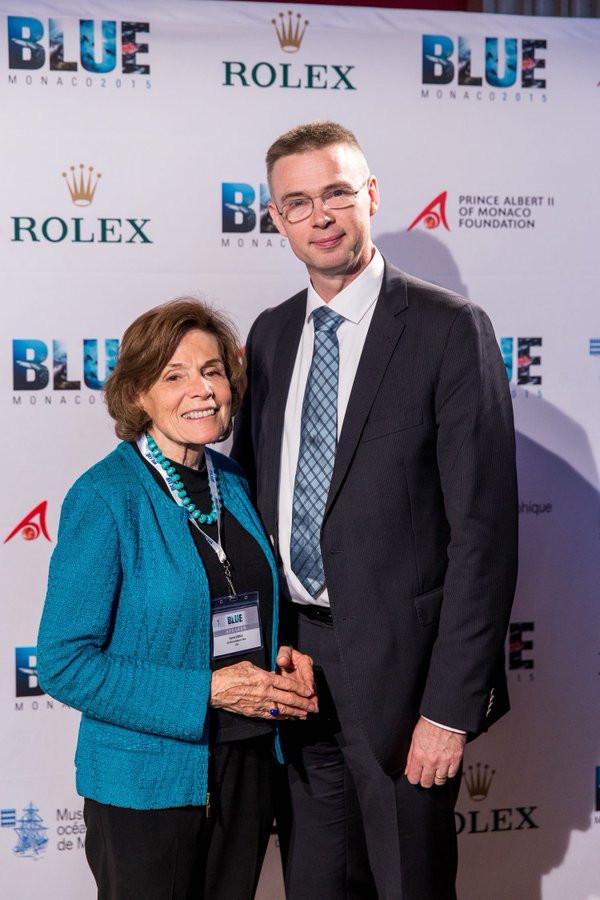 Ief Winckelmans and Sylvia Earle Prince of Monaco