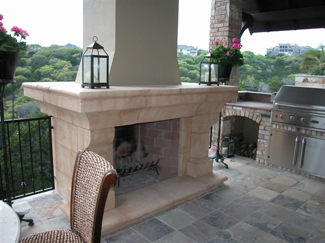 Massive French Fireplace