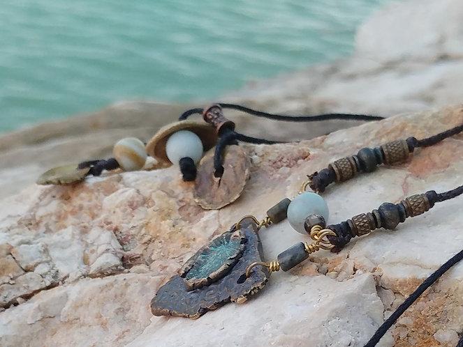 Coral Settlement Cast Bronze ART Necklace