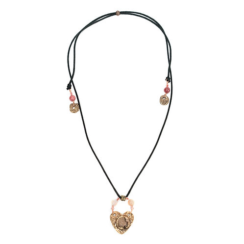 Ocean Love Necklace Coral Bronze Heart
