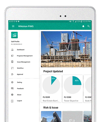 ProjectJar complete solution for project and construction management is provided in one simple dashboard.