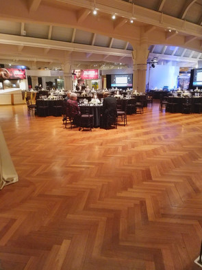 The main seating area, right before guests arrived