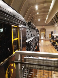 Yes you could go up and into the cabin of the locomotive