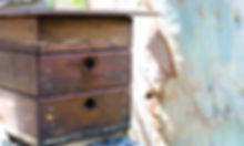 Bee hotel made of wood