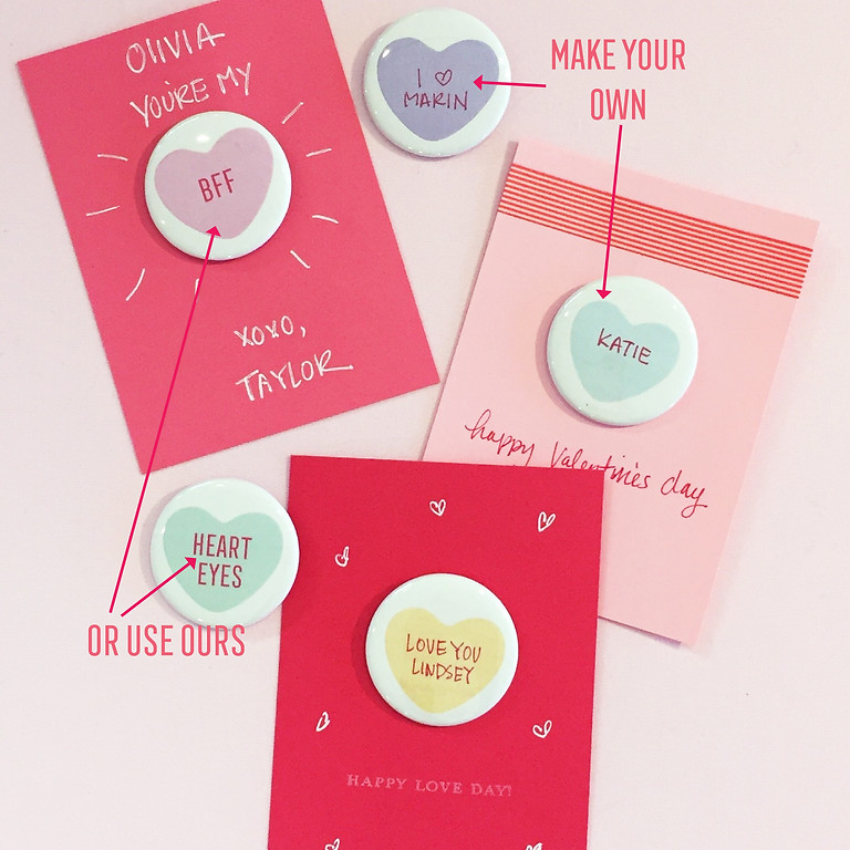 valentines with buttons