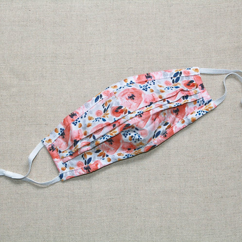 watercolor floral fabric mask