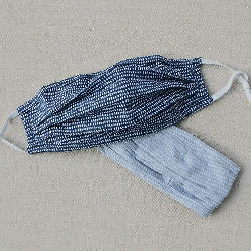 tiny brush strokes fabric mask