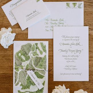 letterpress invitation