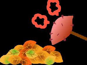 ★11月15日(木)いけとおがわ 親子広場いちご 焼き芋と落ち葉の工作