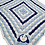 Thumbnail: Blue & White Scalloped Hand Crocheted Baby Blanket