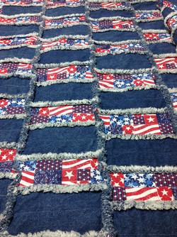 July 4th Rag Blanket